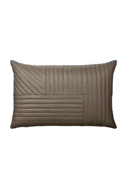 Motum - Leather Cushion - 60x40 - Walnut