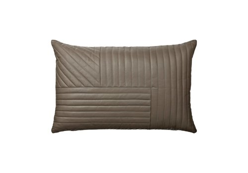 AYTM Motum - Leather Cushion - 60x40 - Walnut