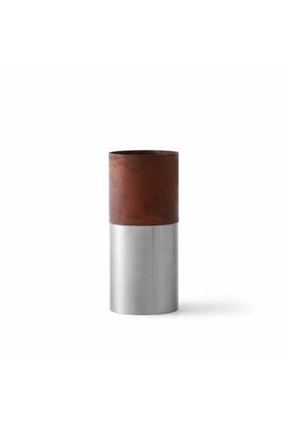 LP7 - true color vase - brown steel - High