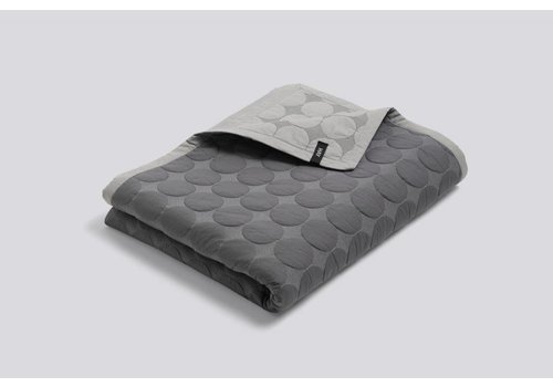 HAY Mega Dot Quilt - Dark Grey - 195x245cm