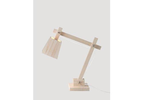 MUUTO Wood Lamp - Pine - White cord