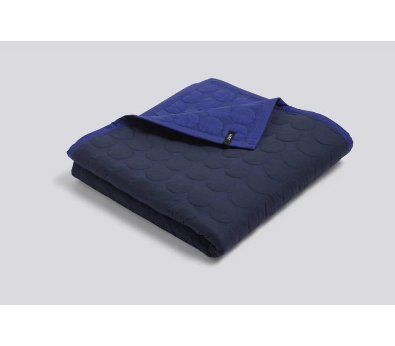Mega Dot Quilt - Blue - 195x245cm