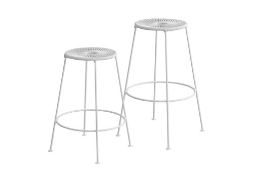 OK Design Acapulco - Bar Stool - All white - Med