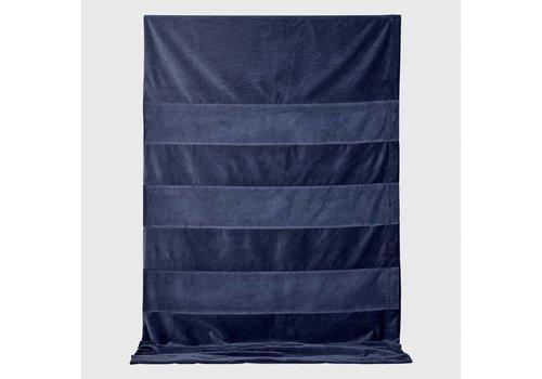 AYTM Sanati - Velvet bedspread - Navy