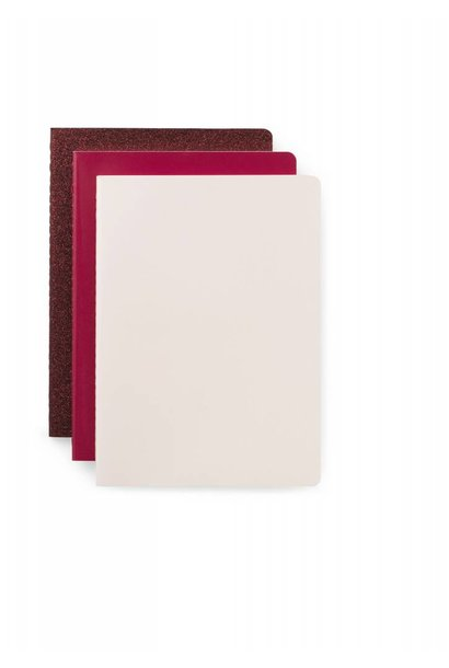 Daily fiction - Notebook 3 pcs - Pink - Small