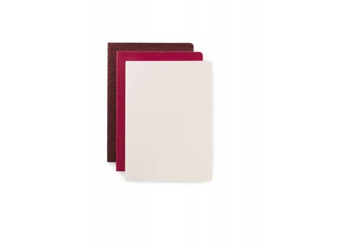 Normann Copenhagen Daily fiction - Notebook 3 pcs - Pink - Small