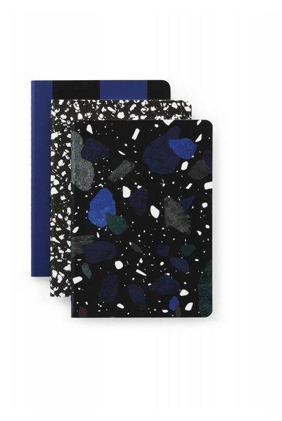 Daily fiction - Notebook 3 pcs - Dark Print - Small