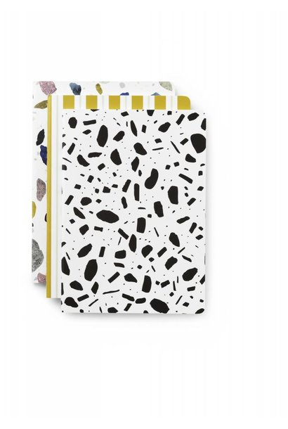Daily fiction - Notebook 3 pcs - Light Print - Small