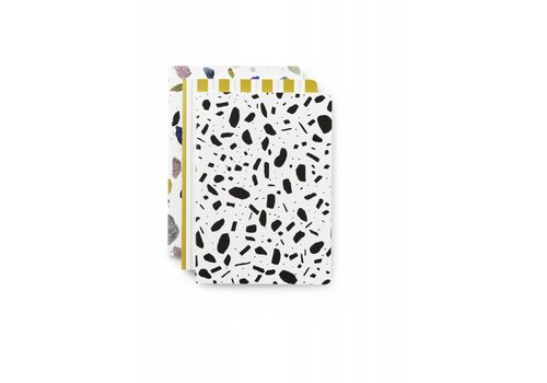 Normann Copenhagen Daily fiction - Notebook 3 pcs - Light Print - Small