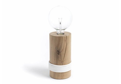 Log lamp - white cable