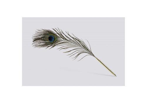 HAY Peacock - pauwenveer - pen - zwarte inkt