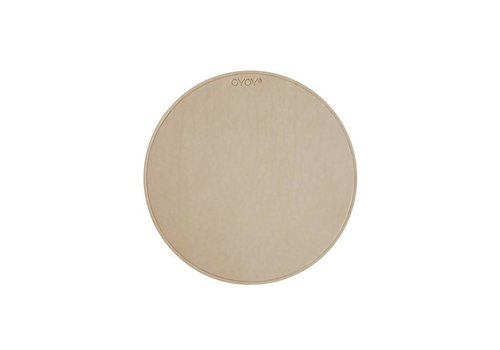 OYOY Mouse Pad - leather - natural