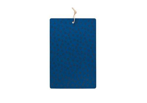 OYOY Cuttingboard - Muni -  dazzling blue / black