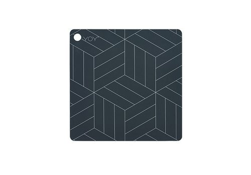 OYOY Placemats - square - mado - dark grey - 2 pcs