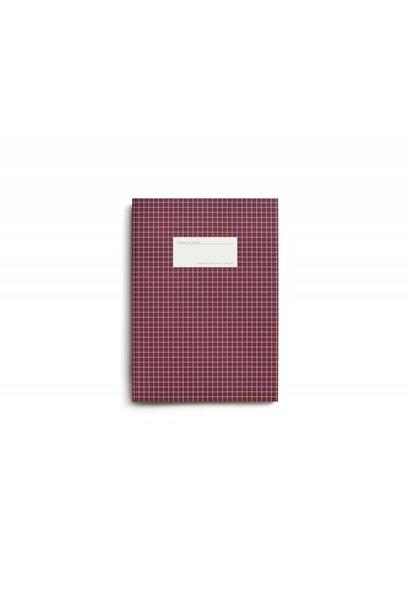 Large dark red notebook - grid paper.