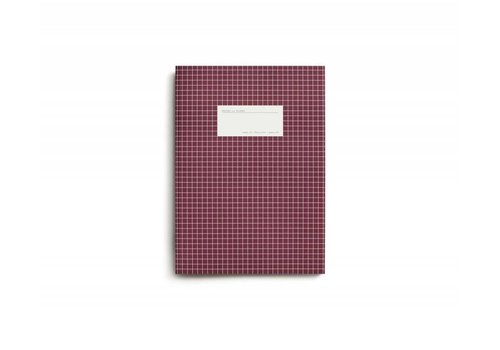Large dark red notebook - grid paper.