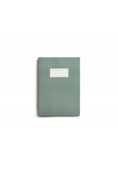 Notebook - Large - Grid - Green