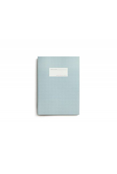 Notebook - Large - Grid - Light Blue