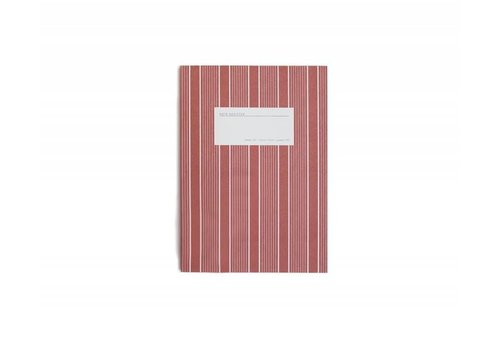 Notebook - Small - Stripes - Red