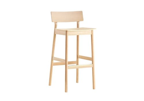 Woud Pause - bar stool - white pigmented lacquer oak