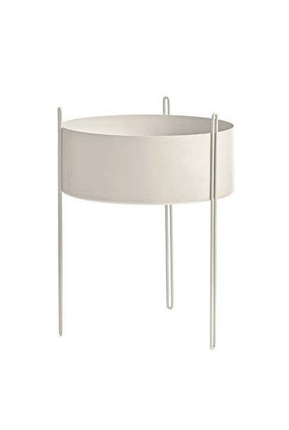 Pidestall flower pot - L grey