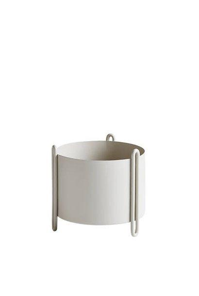 Pidestall flower pot - S grey