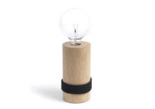 Log Lamp - black cable