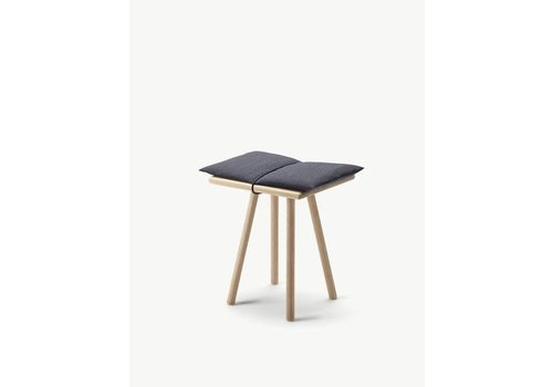 Skagerak Georg stool - Oak - Dark grey seatcushion