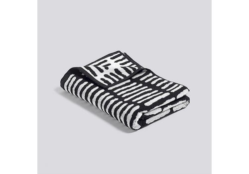 HAY He She It - bath towel - black  / cream - 140x70cm **
