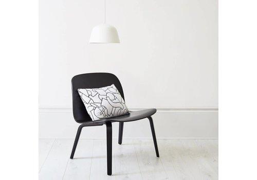 MUUTO VISU lounge chair - wood shell black