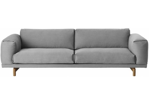 MUUTO REST sofa : 3-seater - steelcut trio 133