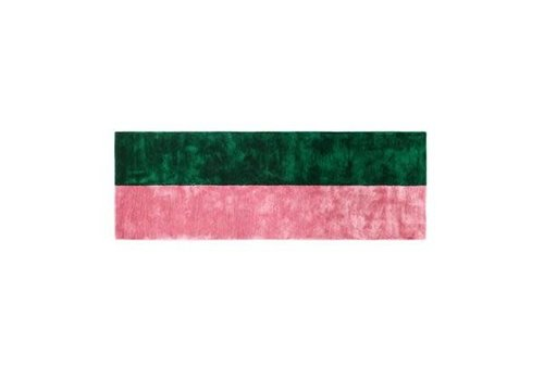 Normann Copenhagen Pavilion Carpet - 80 x 240 - Blush / dark green