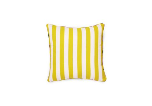 Normann Copenhagen Posh cushion - Keep it simple - Pale rose / Lemon curry