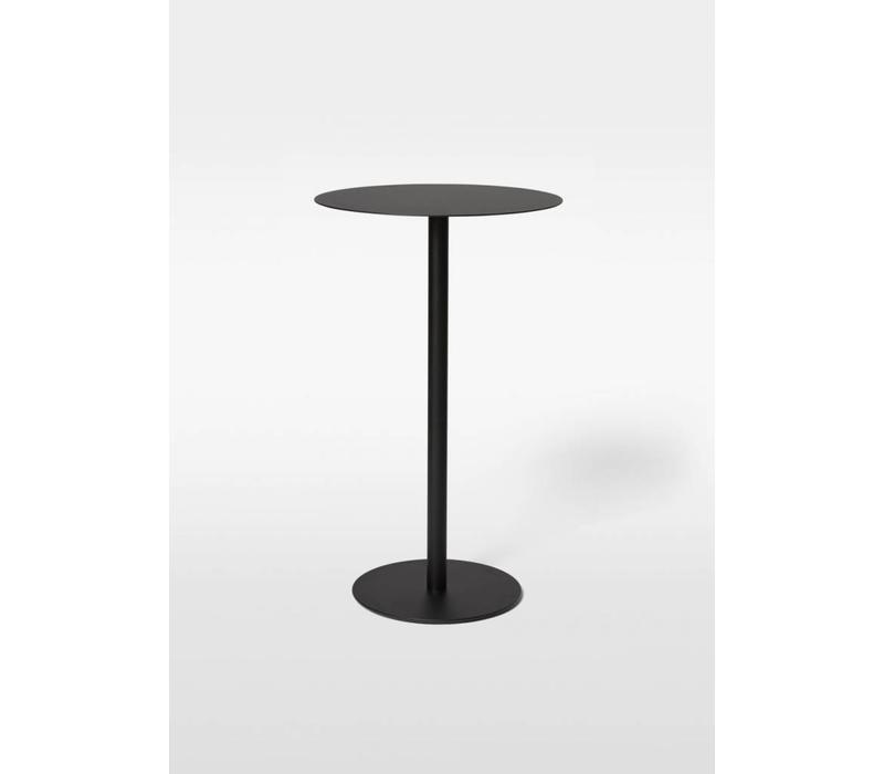 Odette Bar Table - 70x70 - Metal base Black  + Top black laminate