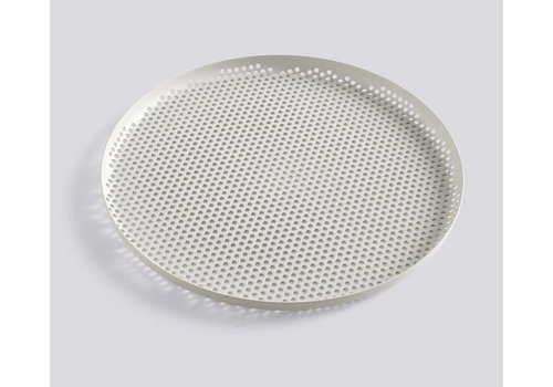 HAY Perforated tray - large - soft grey