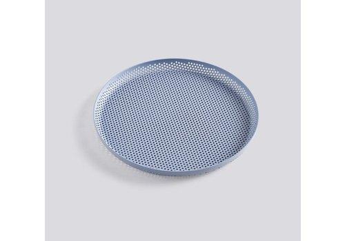 HAY Perforated tray - medium - light blue