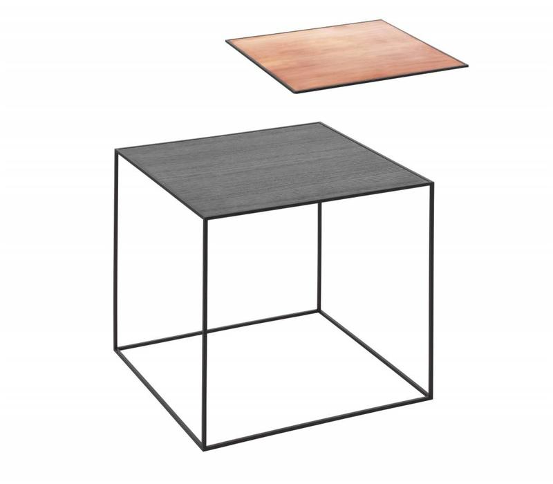 Twin table 42 - black frame