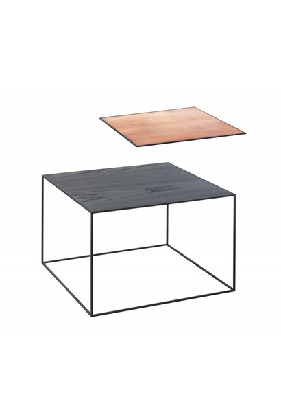 Twin table 49 - Black frame