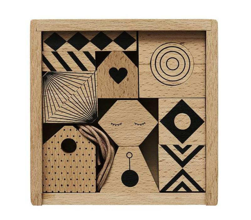 OYOY Wooden mobile - Puzzle me