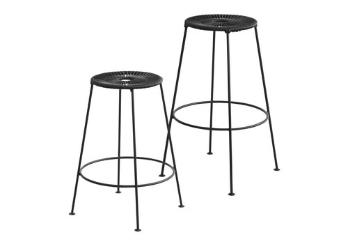 OK Design Acapulco - Bar Stool - Black - Med