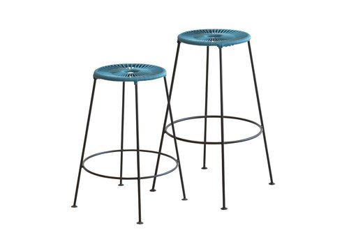 OK Design Acapulco - Bar Stool - Petroleum blue - Med