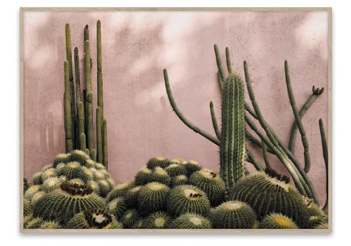 Paper Collective Plants on Pink - 50x70 cm