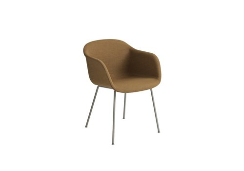 MUUTO Fiber armchair tube base fully upholstered - incl Felt gliders -