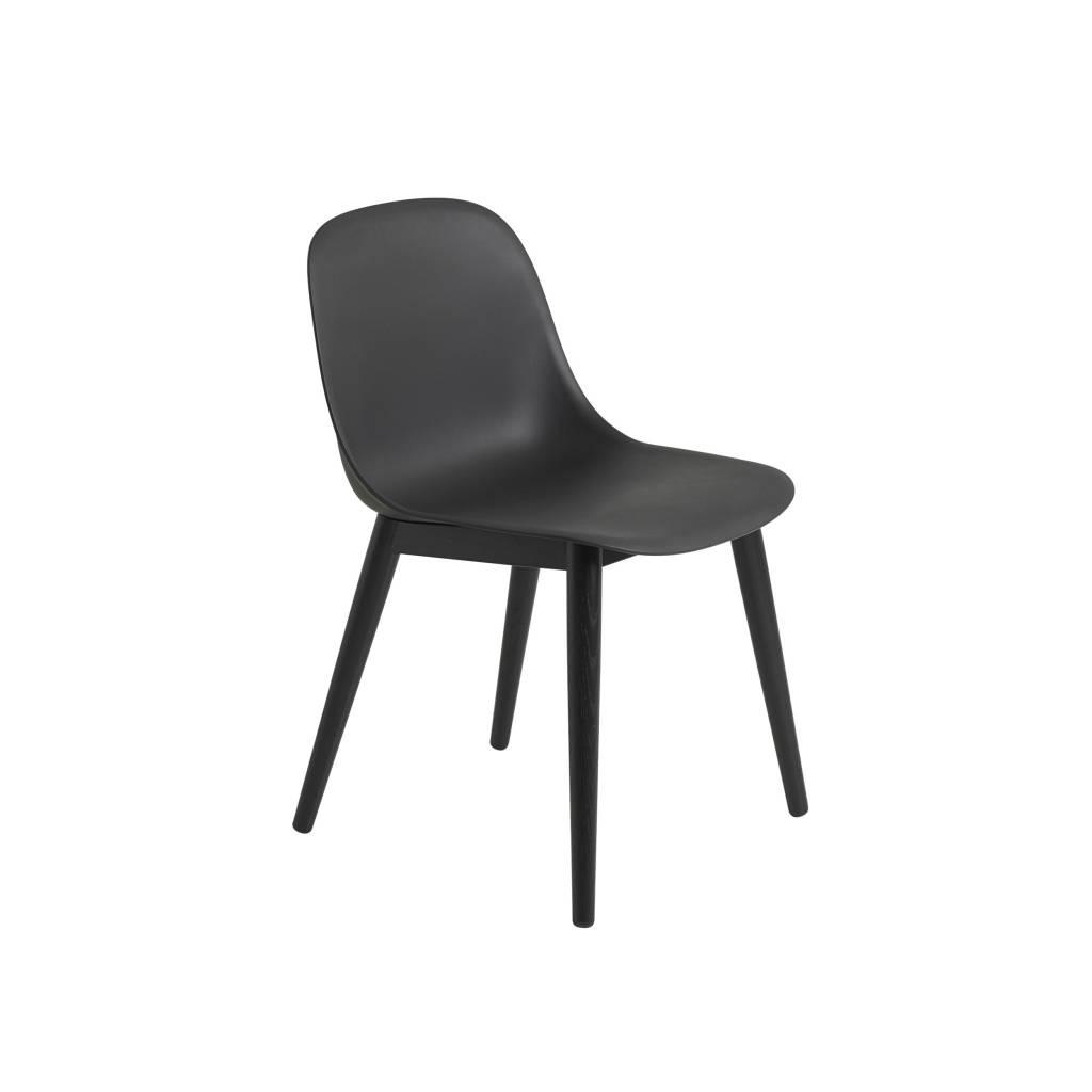 Fiber side chair wood base-1