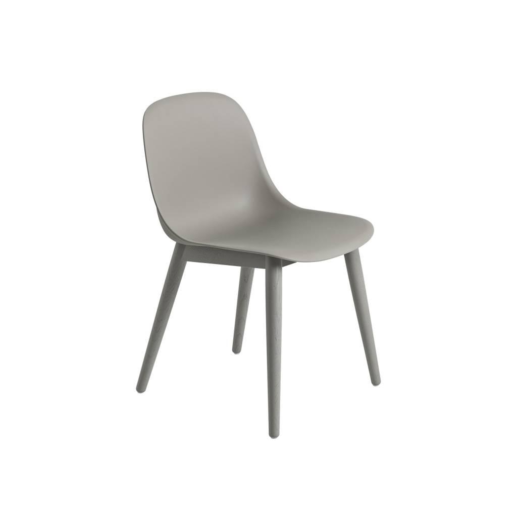 Fiber side chair wood base-4
