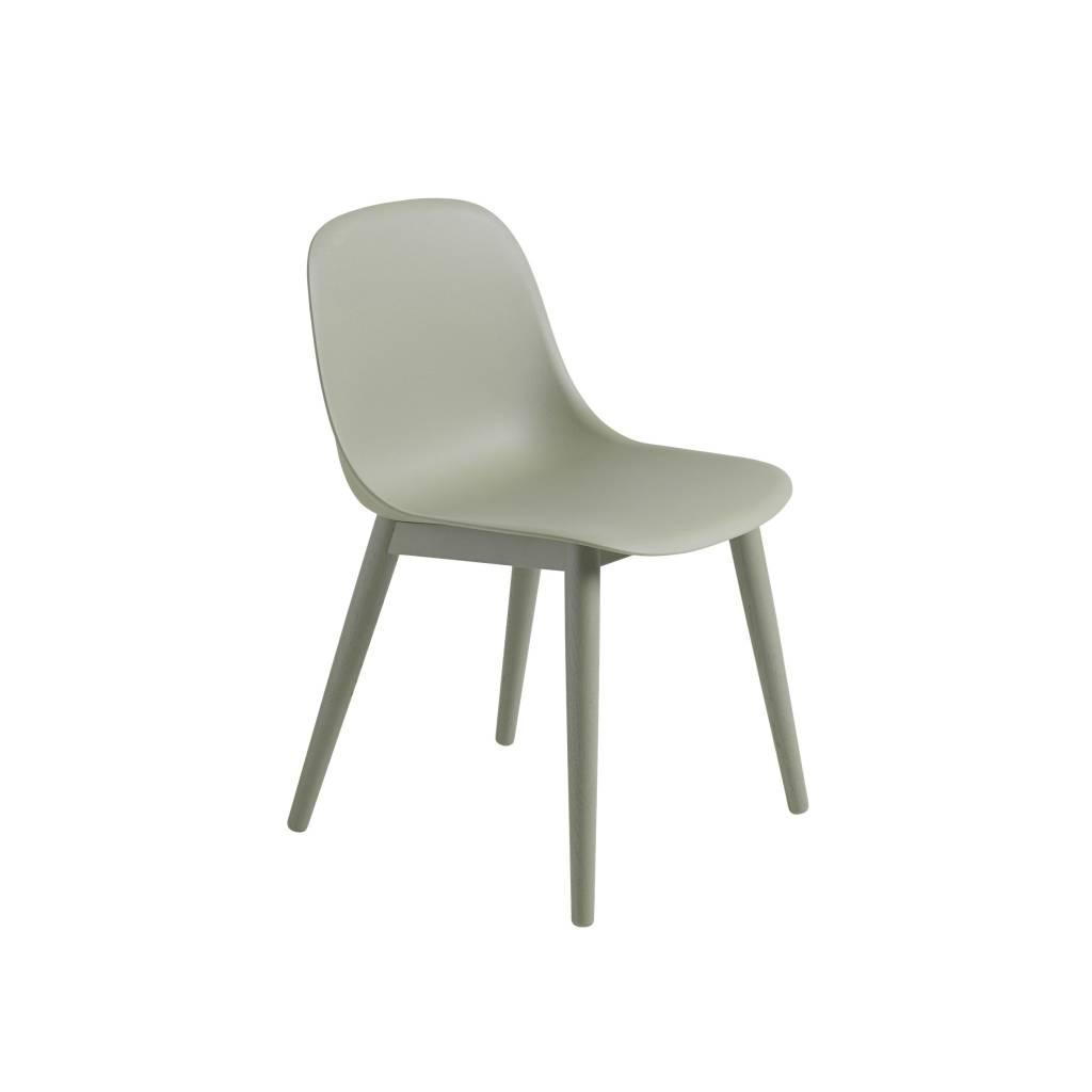 Fiber side chair wood base-5
