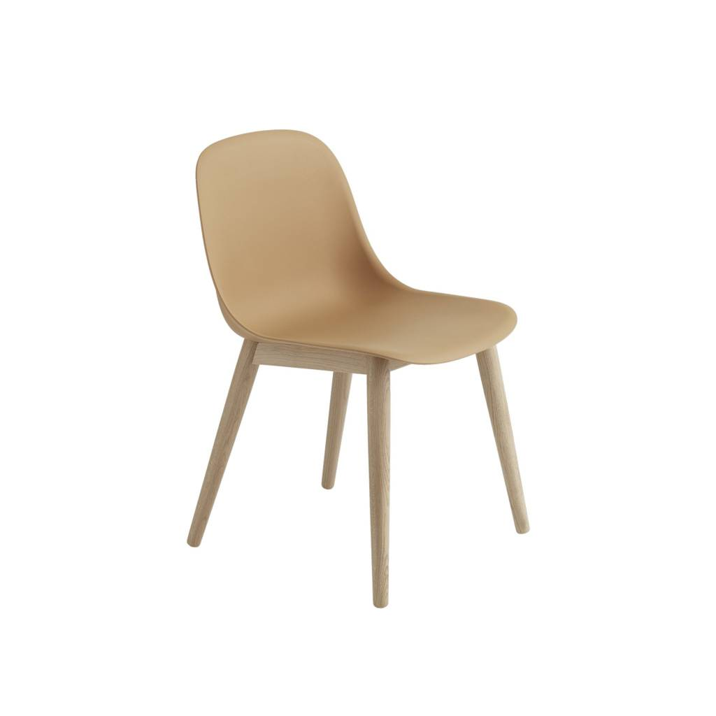 Fiber side chair wood base-3
