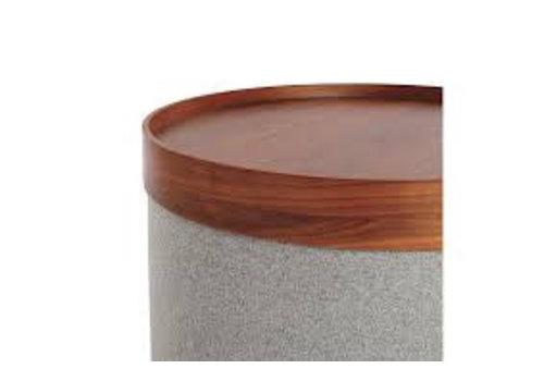 Softline Drum Tray small Walnut
