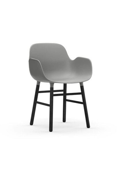Form Armchair black lacquered wood base