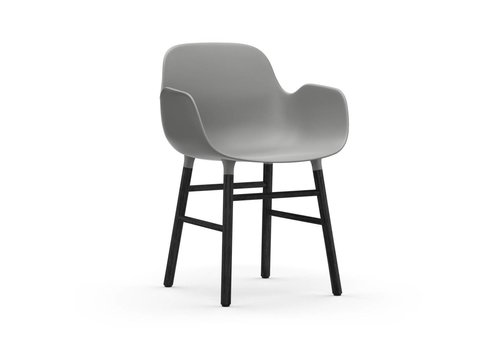 Normann Copenhagen Form Armchair black lacquered wood base